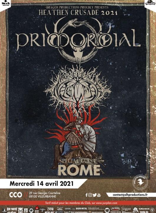 Affiche Primordial en concert à Lyon