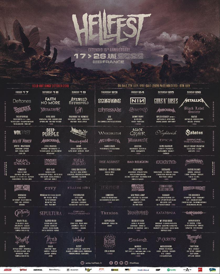 Hellfest - Lineup 2022