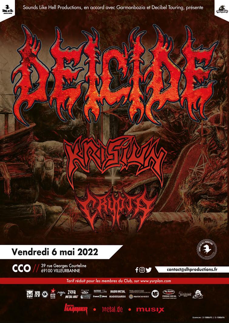 Deicide • Krisiun • Crypta à Lyon (CCO)