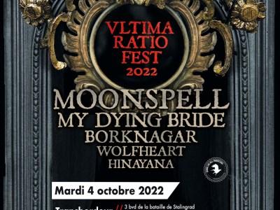 MOONSPELL + MY DYING BRIDE + BORKNAGAR + WOLFHEART + HINAYANA @ Transbordeur, Villeurbanne (69)