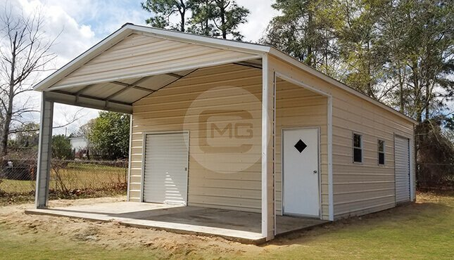 Combo Utility Buildings Combo Utility Carports With Storage Shed