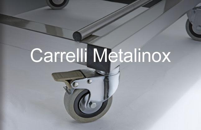 Carrelli in acciaio inox  Carrelli cucina  Carrelli