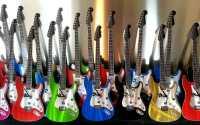 Retro Guitar Metal Wall Clock Designs - Metalistik Metal ...