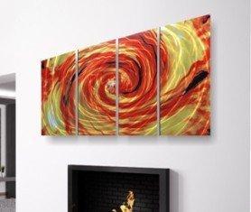 Coloured metal Wall Art