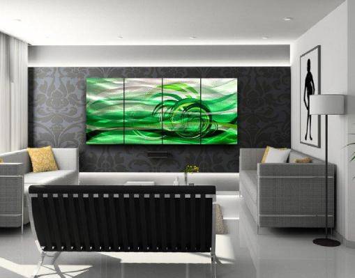 green MetaL Wall Art modern