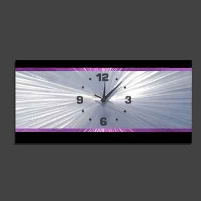 purple clock retro