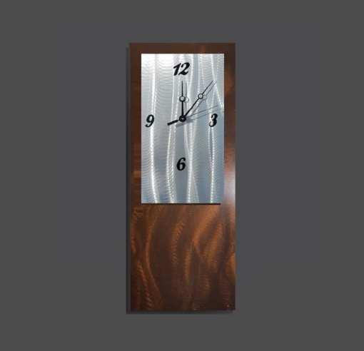 Chocolate metal wall clock design