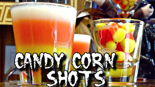 Candy Corn Shot for Halloween (Drunken Master Paul)