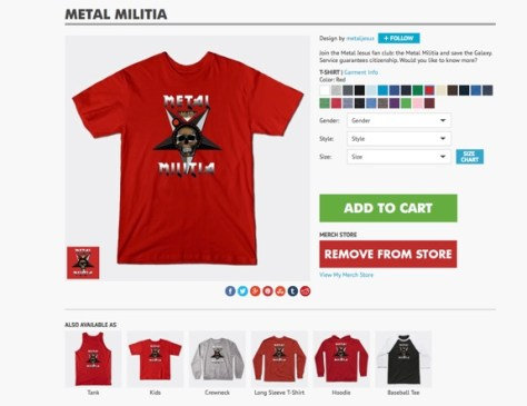 T-Shirt MetalMilitia