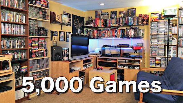 Metal Jesus GAME ROOM TOUR – 5000 Games!