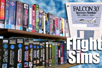 Classic FLIGHT SIMS Collection & Favorites [MS-DOS ROCKS!]