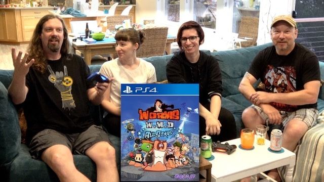 Let's Play WORMS on PS4 – Four Players on the Couch
