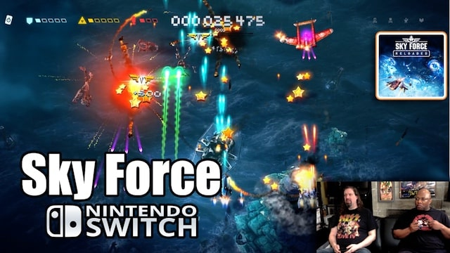 SKY FORCE RELOADED (Co-Op Shoot'em Up) on Nintendo SWITCH w/ Radical Reggie