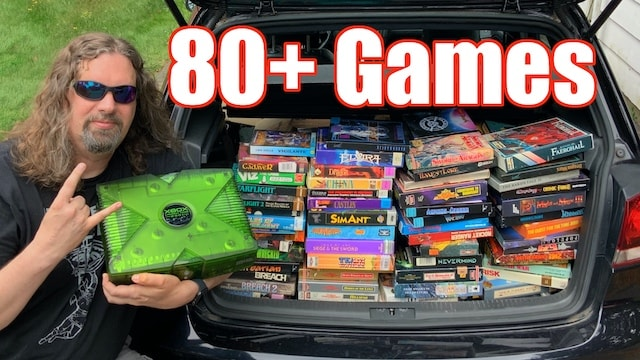 INSANE FIND: Over 80 Amiga games & Special Edition Launch Team 2001 XBOX