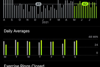 MJR Health – Exercise Stats for the past Year