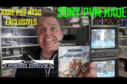 Awesome Pickups Sony PVM With RGB, Rare NTSC Exclusive PlayStation RPGs, Also some Sega, Nintendo DS