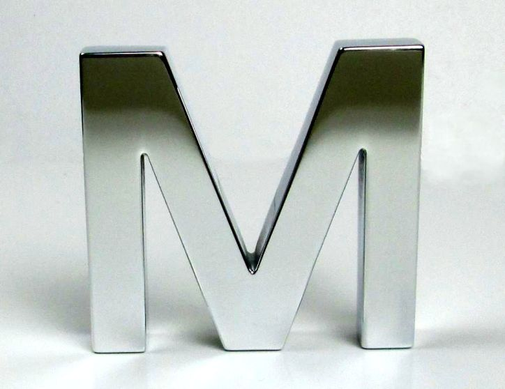 Polished Aluminium Letters