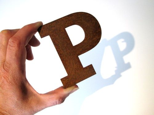 industrial-sign-letter-p