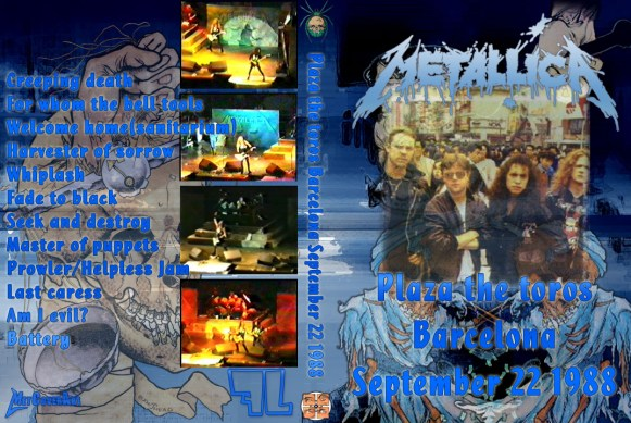 Metallica — 1988-09-22 Barcelona, Spain (DVD Cover)