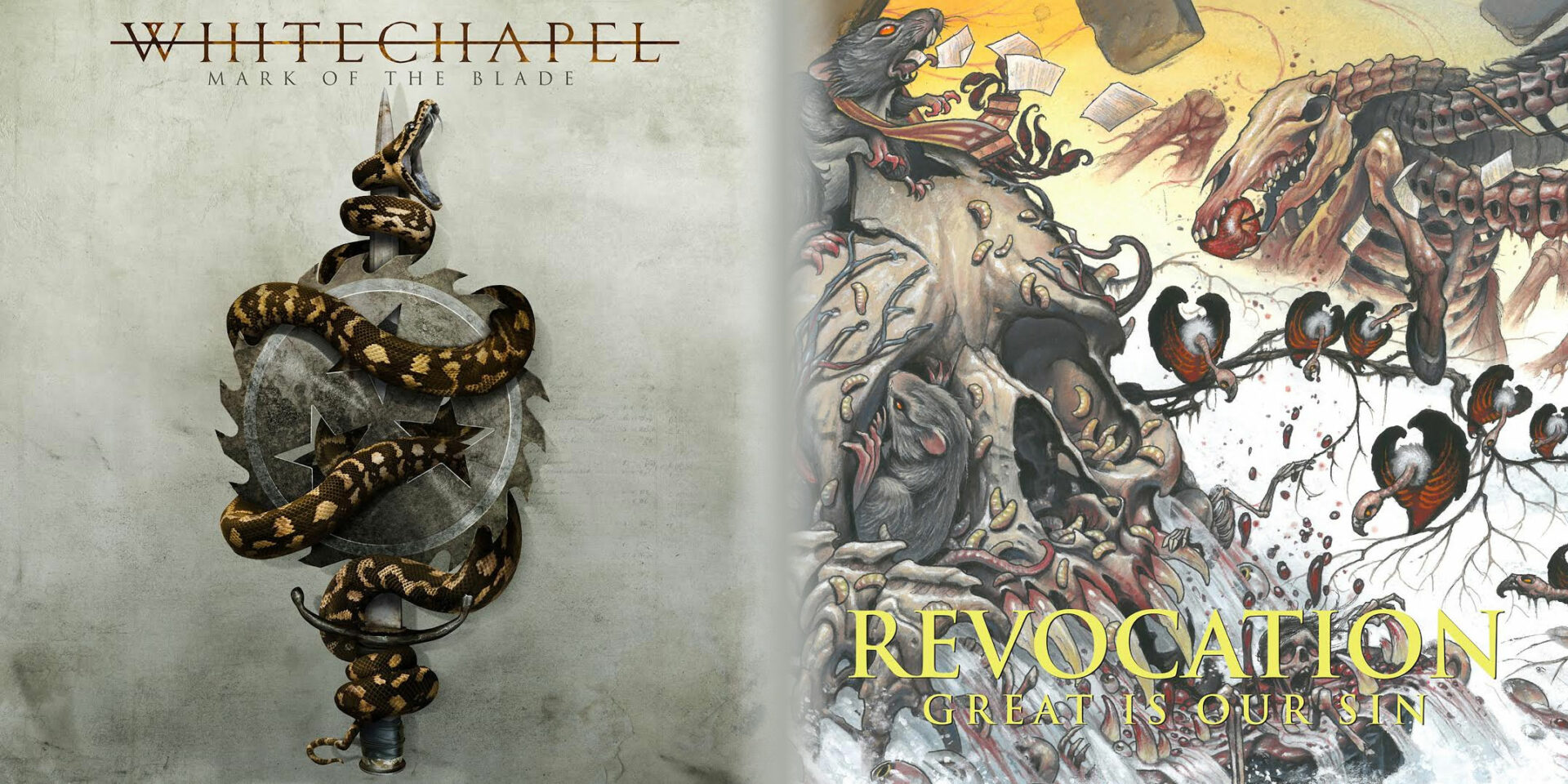 You are currently viewing WHITECHAPEL – Mark Of The Blade <br/> REVOCATION – Great is Our Sin