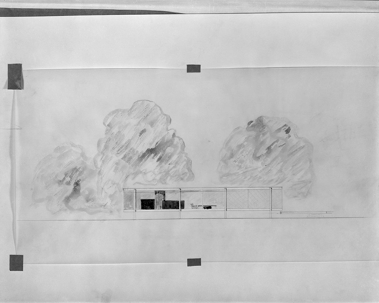 Plan para levantar la Casa Farnsworth por encima de las inundaciones  METALOCUS