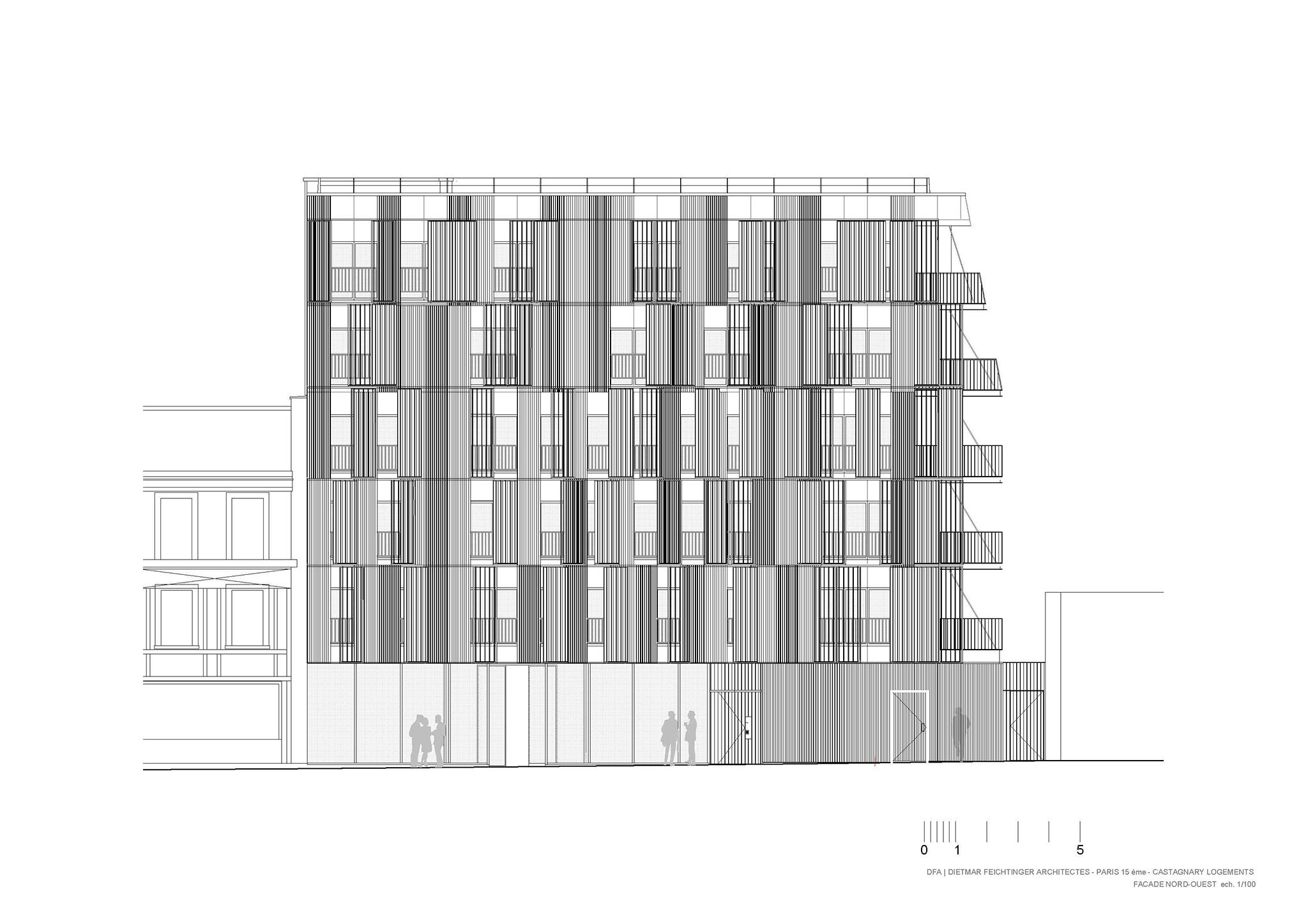10 social housing units Paris 15e by Dietmar Feichtinger