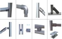 Different Flexible Shape Aluminum Pipe Fittings Connectors