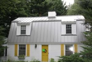 modern tin roof on a house