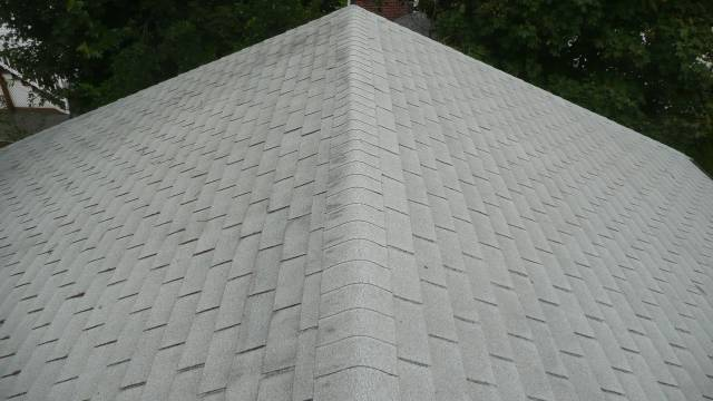 asphalt shingle roof before the installation