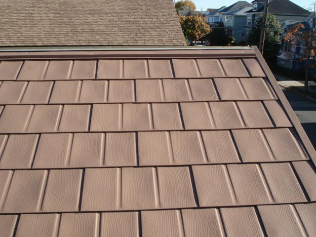 aluminum shingles installed