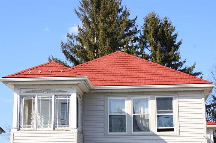 steel shingles roof