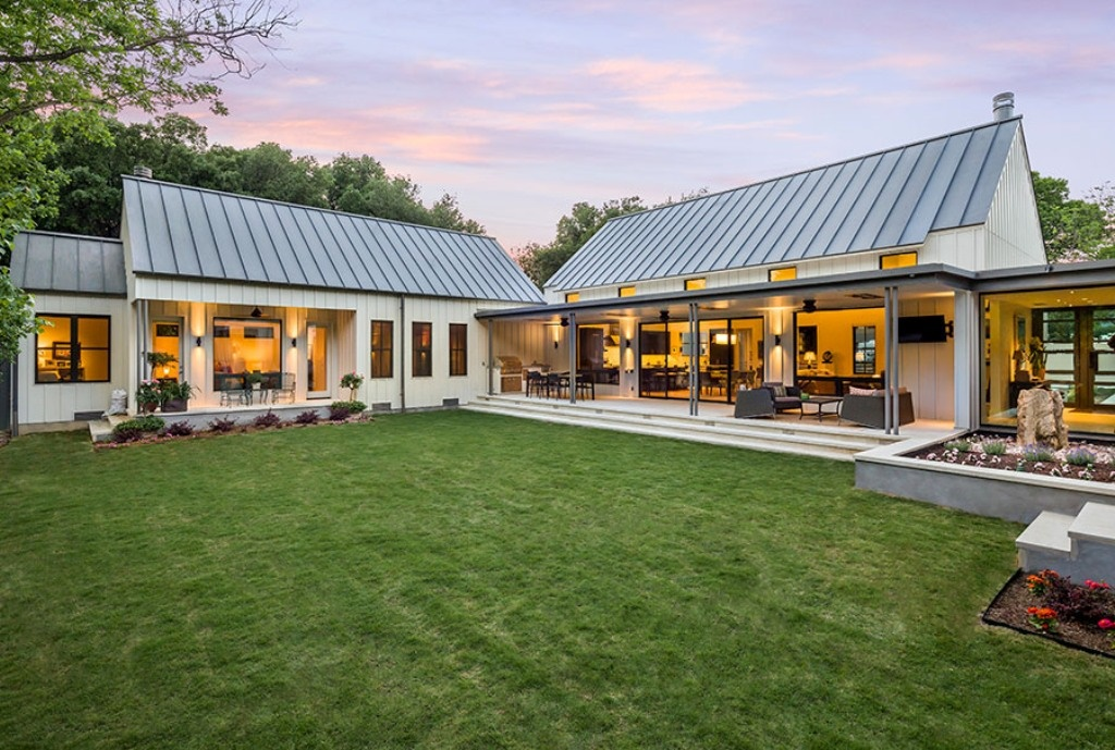 Metal Roof On A Modern Farm House