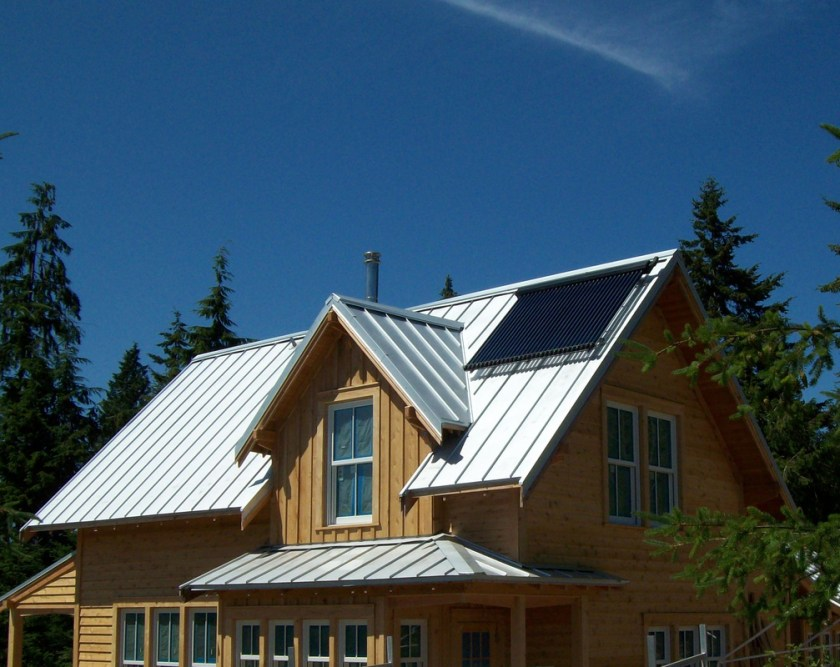 solar-hot-water-system-on-a-standing-seam-metal-roof