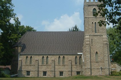 This historical Ontario church wanted a classic look without sacrificing structure and longevity - this roof is built to last, just like this traditional architecture. Metal Roof Outlet gave them the look of a classic shake roof, with a lot more strength.