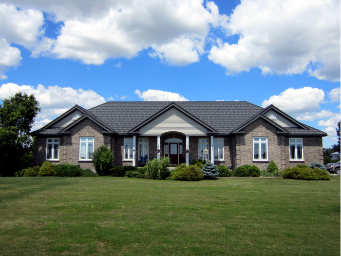 Belmont Ontario with installed steel metal tile roof by Metal Roof Outlet