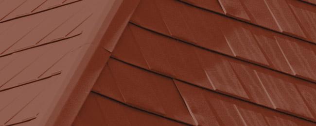 Terra-Red_Wakefield Bridge Steel Roof Tiles_Available at Metal Roof Outlet Ontario