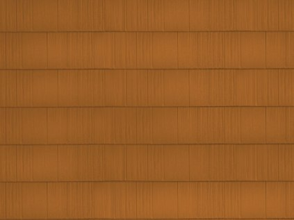 sample image of Arrowline Shake in Copper available from Metal Roof Outlet