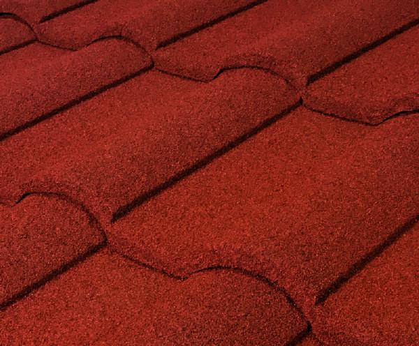 Barrel Vault Stone Coated Metal Tile Roof - Spanish Red