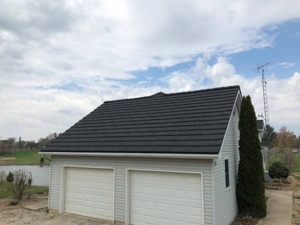 Blenheim metal roofing Boral Steel Pinecrest Shake Charcoal