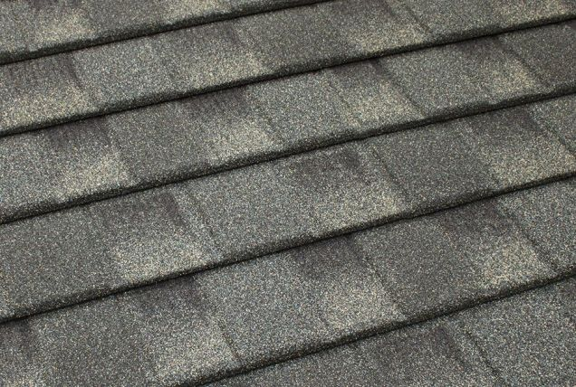 Grey TilCor Concealed Fastening shingle in the colour Oakwood
