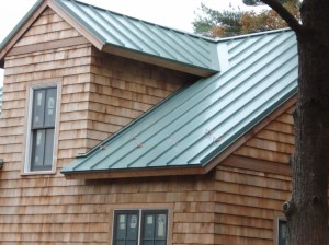 Green Standing Seam Metal Roof