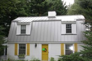 standing seam roof with metallic finish