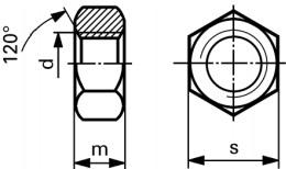 Titanium Hexagon Nuts: DIN 934/ ISO 4032