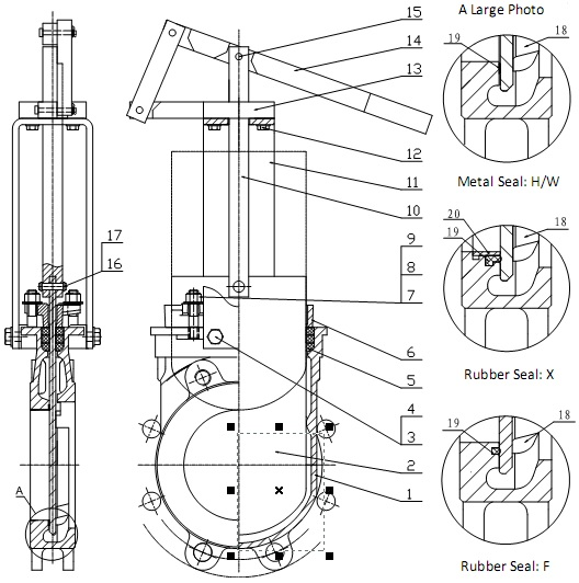 MTB-LHY Series Lever Operated Knife Gate Valve
