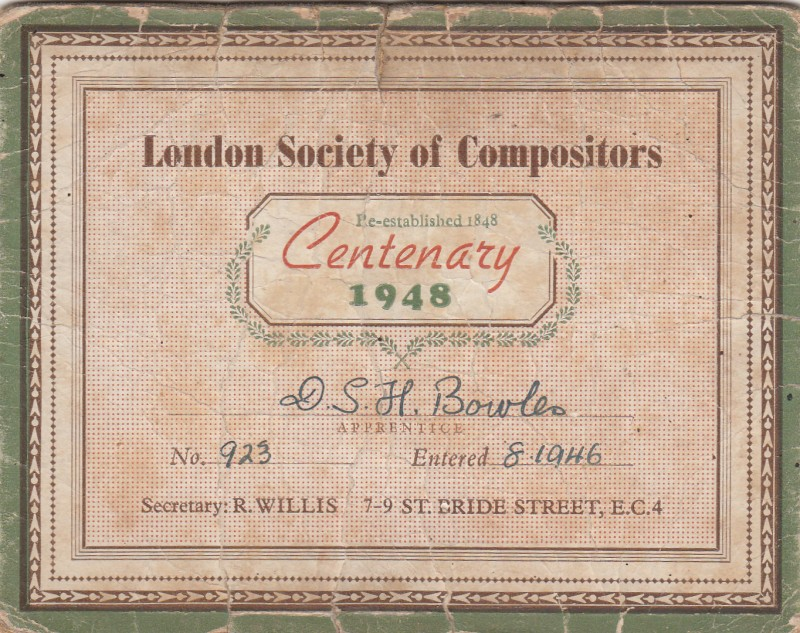 London Society of Compositors 1948