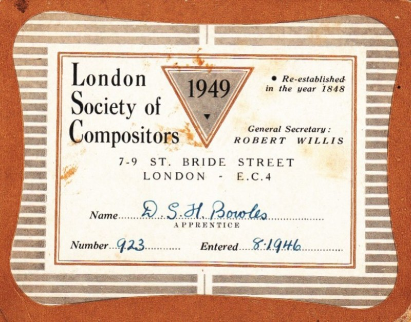 London Society of Compositors 1949