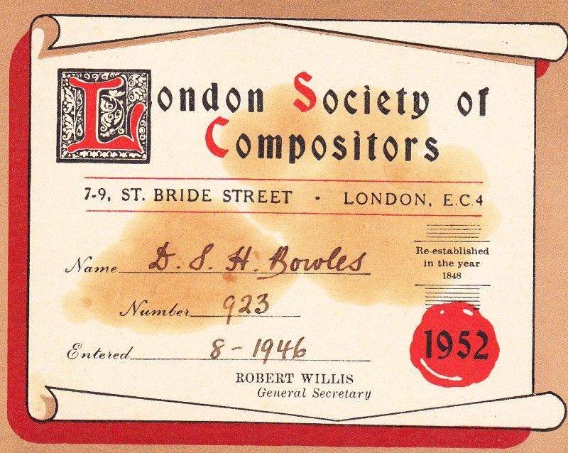 London Society of Compositors 1952