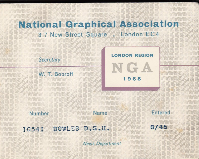 National Graphical Association 1968