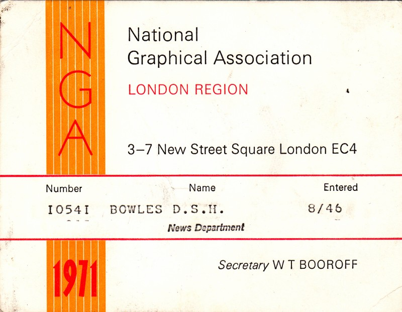National Graphical Association 1971