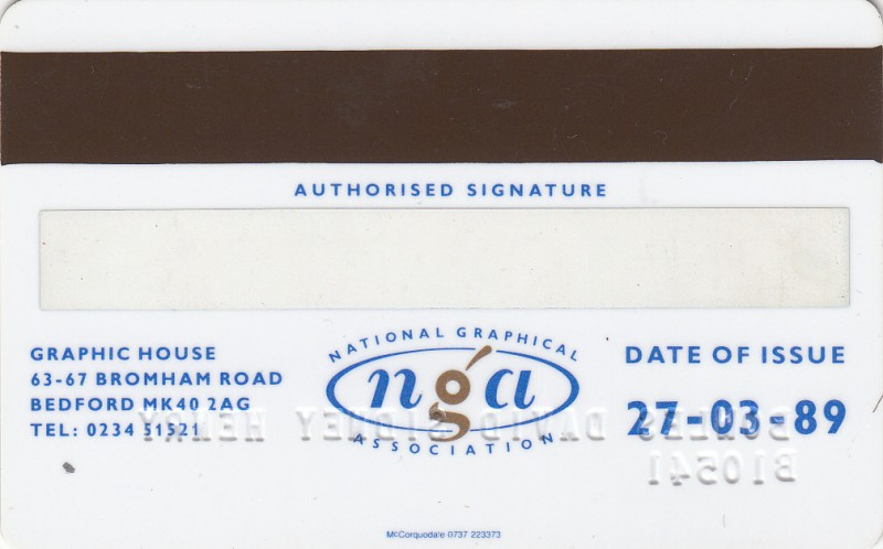 National Graphical Association 1989